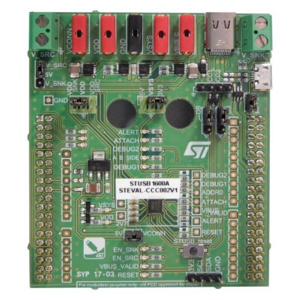STEVAL-CCC002V1 - STUSB1600A Type-C™ controller evaluation