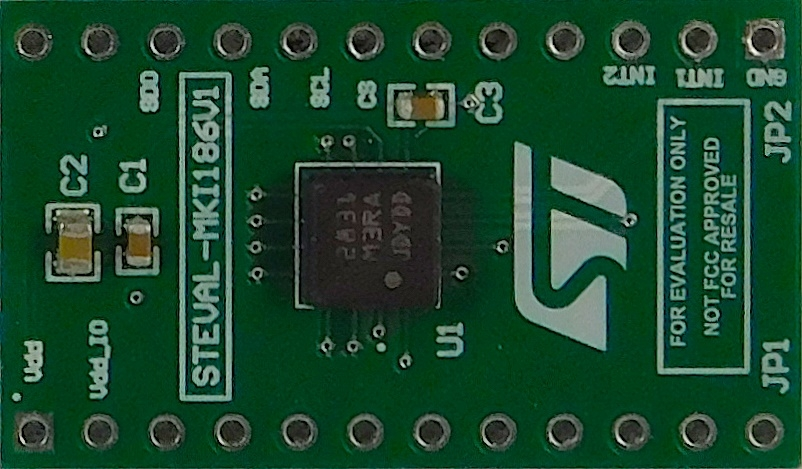 STEVAL-MKI186V1 - IIS3DHHC adapter board for a standard DIL