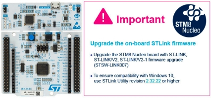 NUCLEO-8L152R8 - STM8 Nucleo-64 development board with