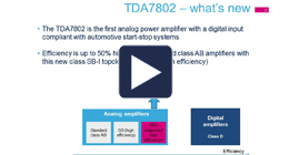 TDA7802 power amplifier