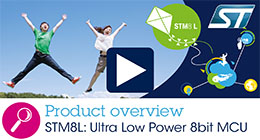 STM8L Ultra-low-power 8-bit microcontrollers