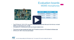 MEMS Microphones evaluation tools