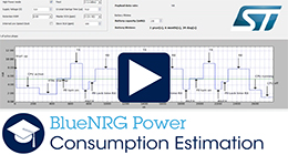 BlueNRG Power Consumption Estimation Tool