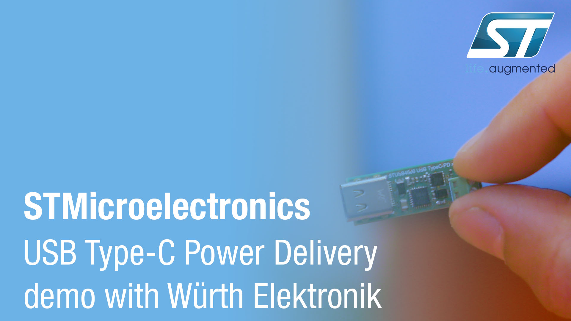 ST at Electronica - USB Type-C PD demo with Würth Elektronik