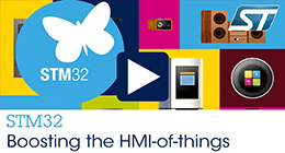 STM32 boosting the HMI-of-things