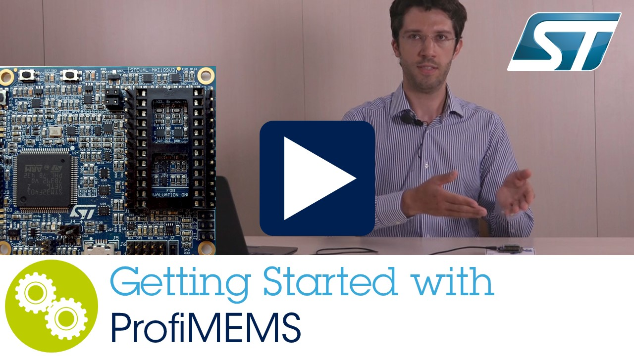 ProfiMEMS (Professional MEMS adaptor boards & Unico software) using a STM32F401 based on M4 Core