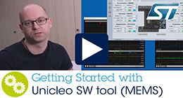 Getting started with Unicleo-GUI for motion MEMS and environmental sensor software expansion for STM32Cube