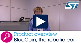 Unboxing the BlueCoin starter kit, the robotic ear