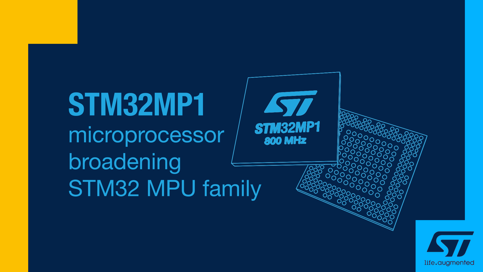 STM32MP1 microprocessor: continuing the STM32 success story !