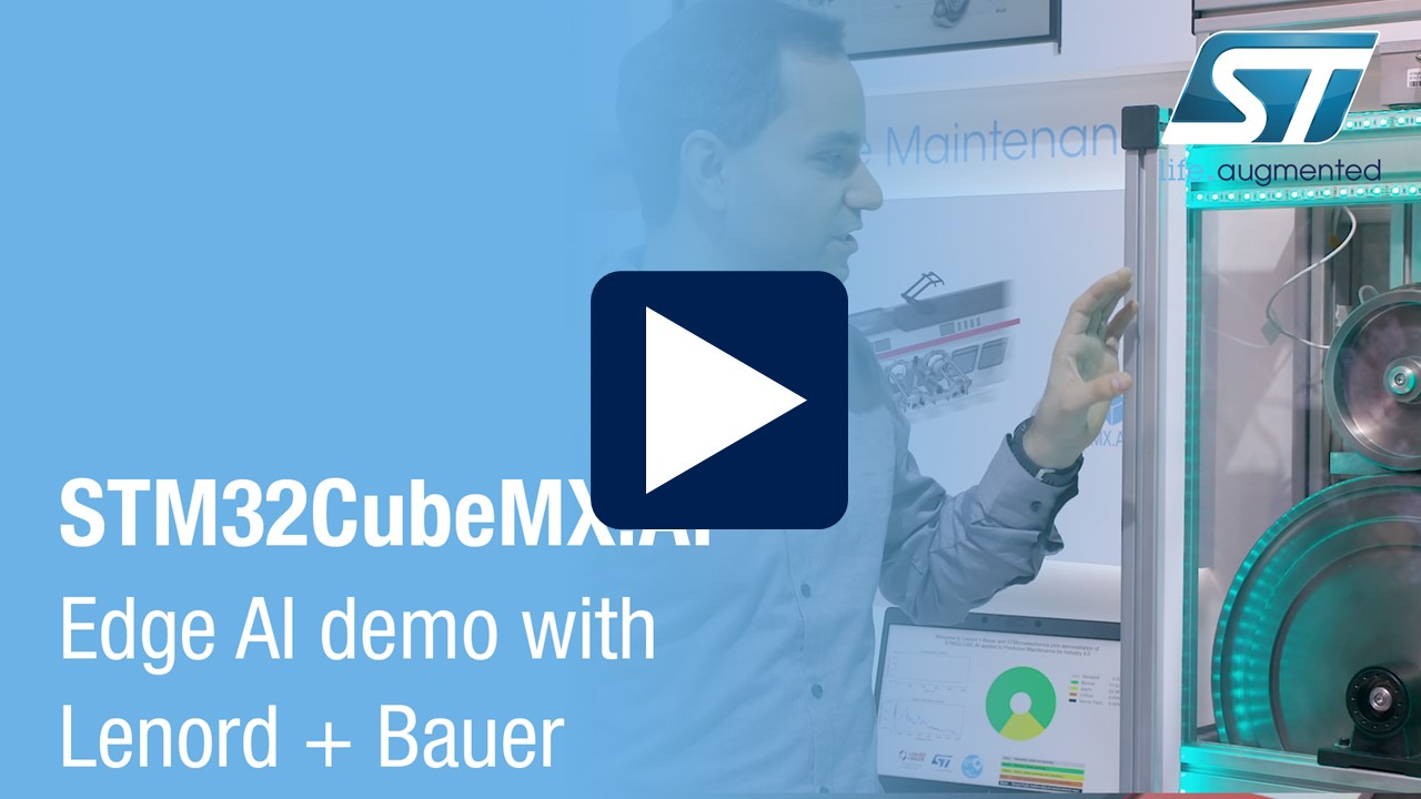 ELECTRONICA STM32Cube.AI DEMO Lenord and Bauer