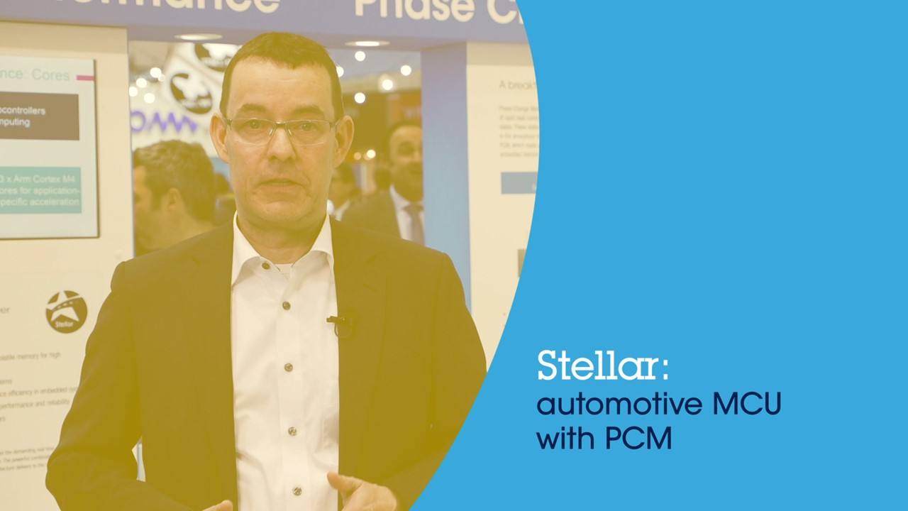 Stellar : automotive MCU with Phase Change Memory