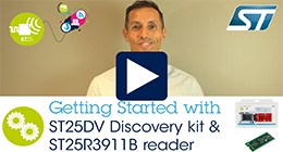 ST25DV discovery kit demonstration using ST25R3911B reader