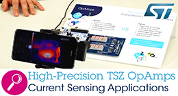 Zero-drift, High-Precision TSZ Op Amps for current sensing applications