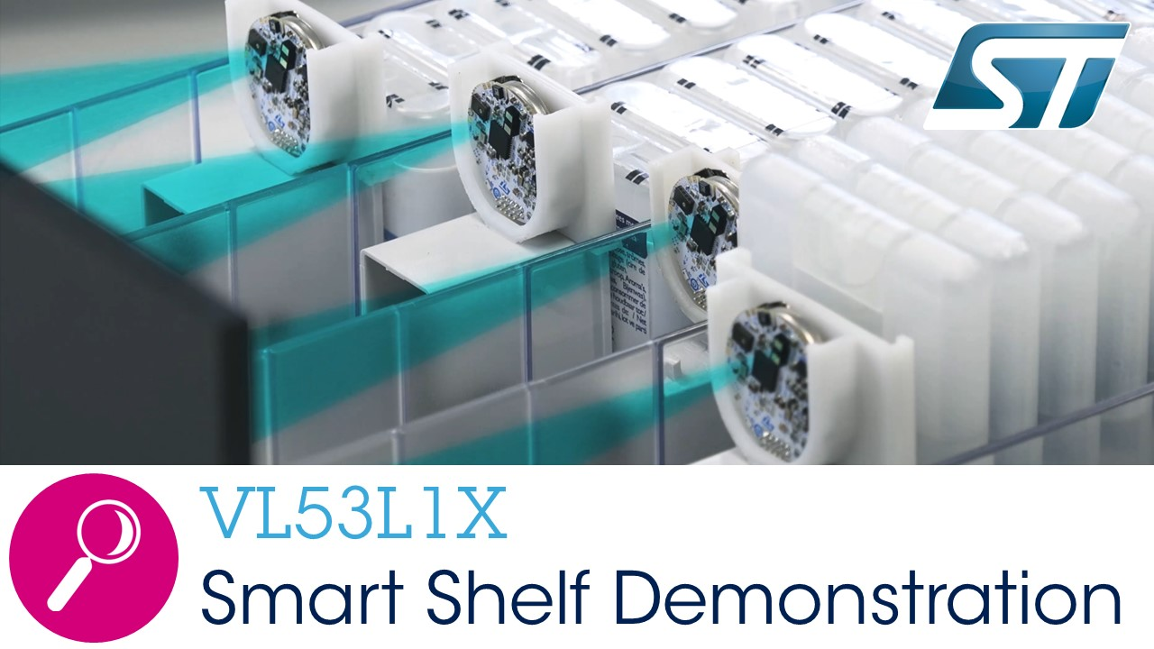 VL53L1X - smart shelves demonstrating programmable region-of-interest (ROI)