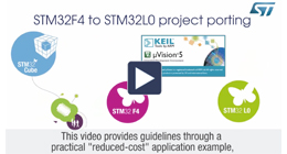 How to migrate your application from one STM32 series to another using STM32Cube