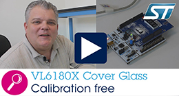 VL6180X calibration free dirty environment cover glass solution