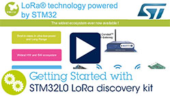 Getting Started with the STM32L0 LoRa™ Discovery Kit