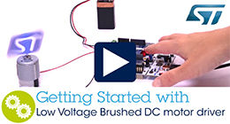 Getting started with low DC motor driver expansion board