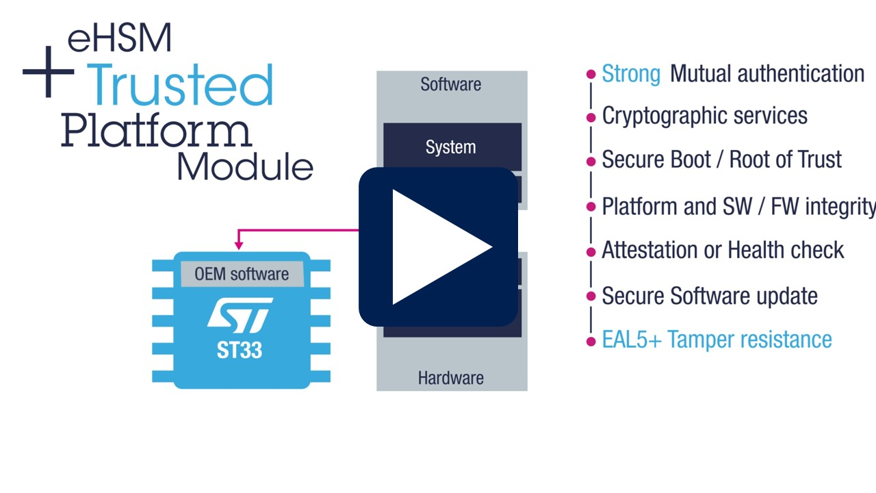 Introducing the ST33 as a Trusted Platform Module