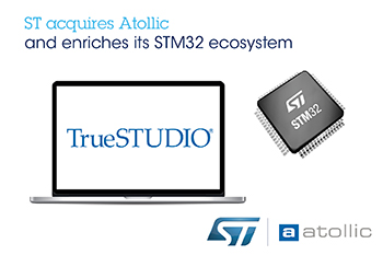 STMicroelectronics Acquires Atollic, an Embedded-Systems Company Engineering Integrated Development Environments for Arm<sup>®</sup>-core-based Microcontrollers