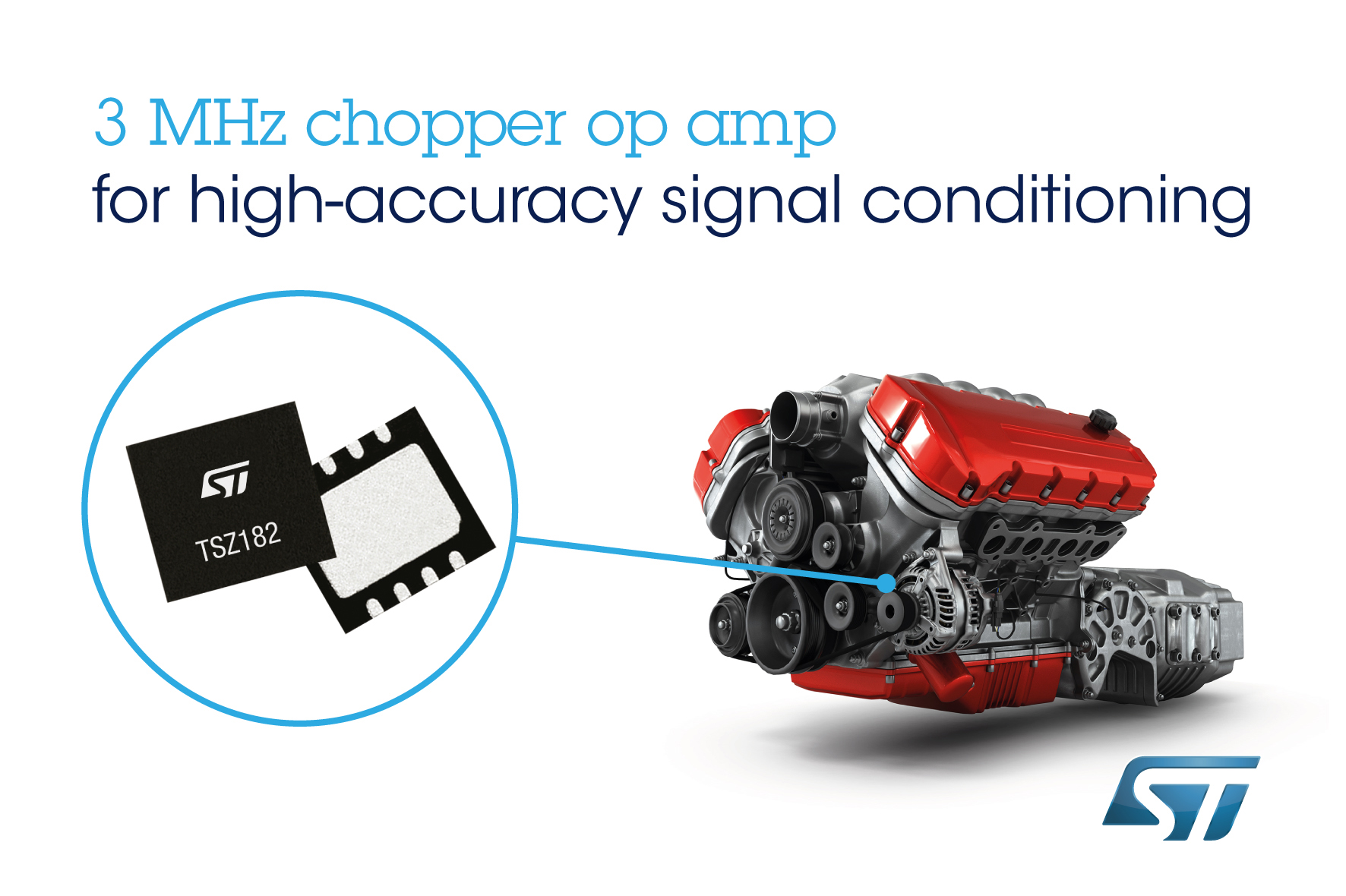 3mhz Chopper Op Amps From Stmicroelectronics Feature Rail To Temperature Alarm With Amp Comparator Input And Output In Tiny Footprint
