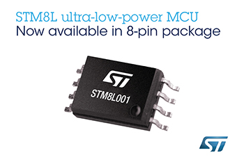 STMicroelectronics' Compact STM8L001 Microcontroller Covers Essentials for Smart Devices, as it Cuts Power, Cost, and Footprint