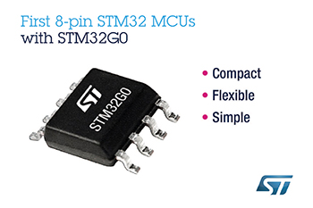 STMicroelectronics Brings 32-Bit-MCU Possibilities to Simple Applications with First 8-Pin STM32 Microcontrollers