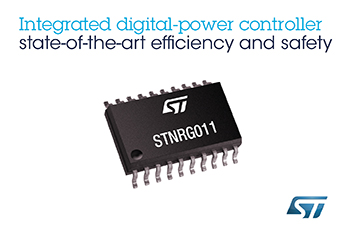 Highly Integrated Digital-Power Controller from STMicroelectronics Streamlines Design to Latest Efficiency and Safety Standards