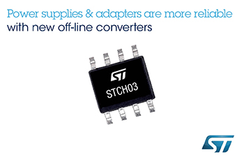 Offline Pulse-Width Modulation Controller from STMicroelectronics Boosts Efficiency, Economy, and Stability of Ultra-Low Standby Power Supplies