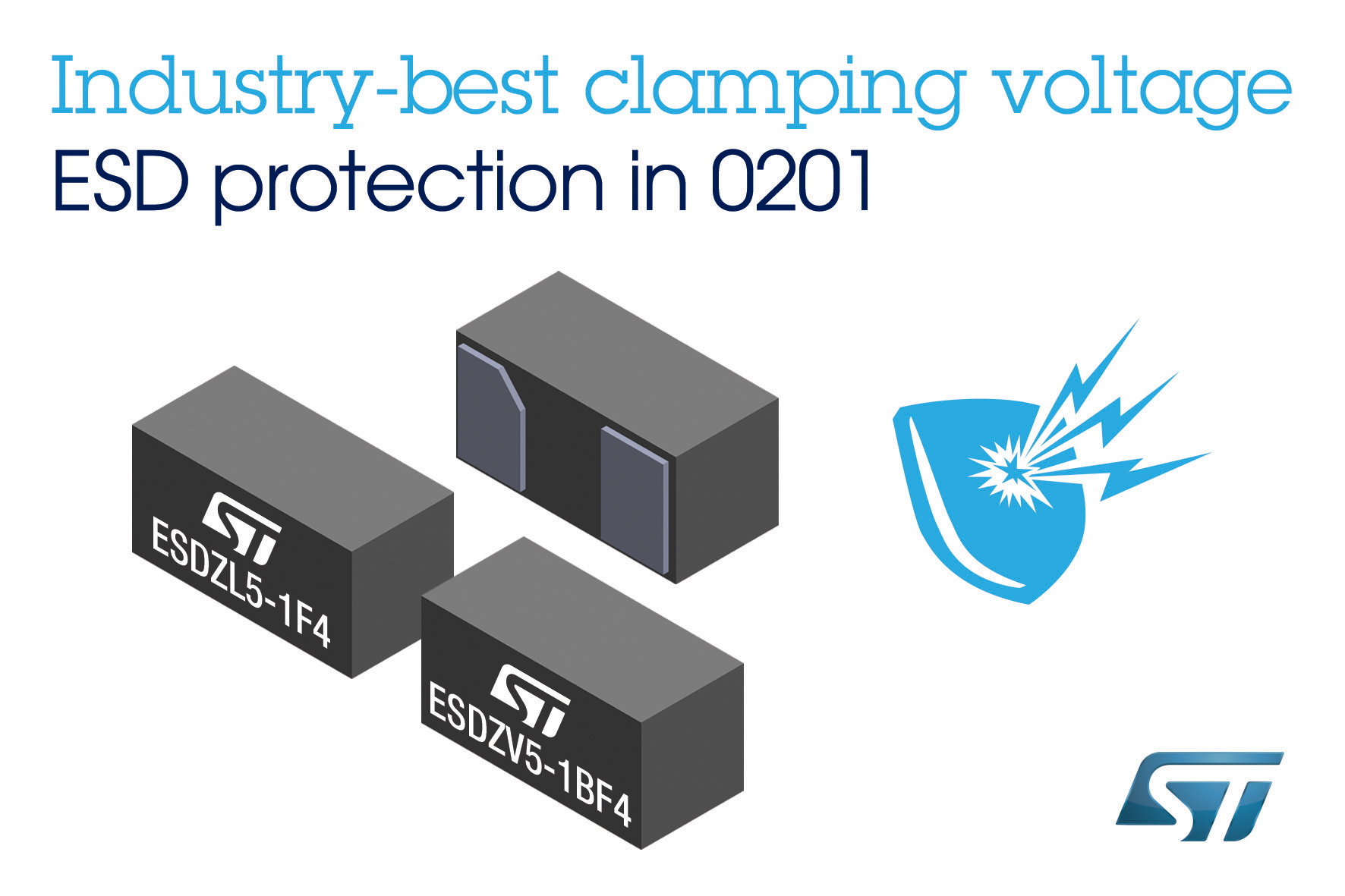 STMicroelectronics' ESD-Clamping Diodes in 0201 Package Bring