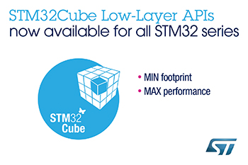STMicroelectronics Completes Deployment of Low-Layer Software for All STM32 MCUs