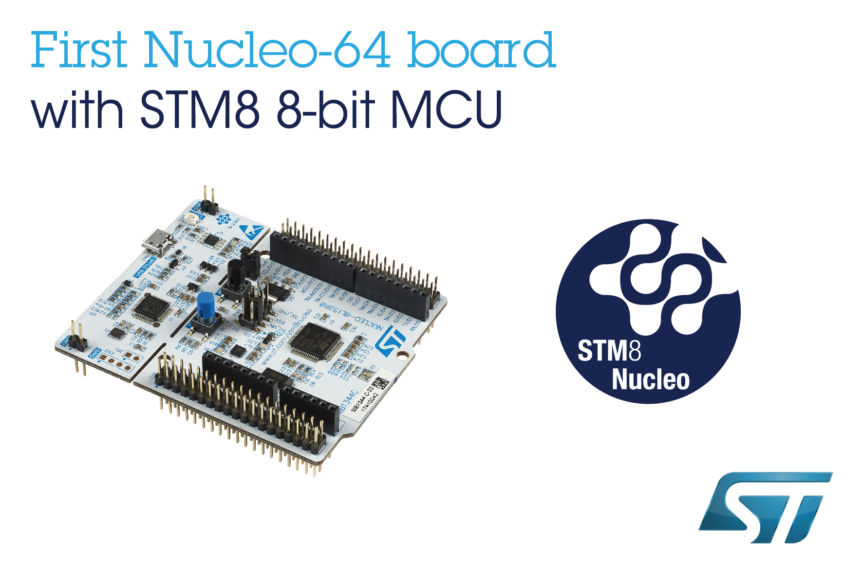Stm8 Nucleo Boards From Stmicroelectronics Connect 8 Bit Projects To Digital Power Control 32 Mcu Open Source Hardware Resources