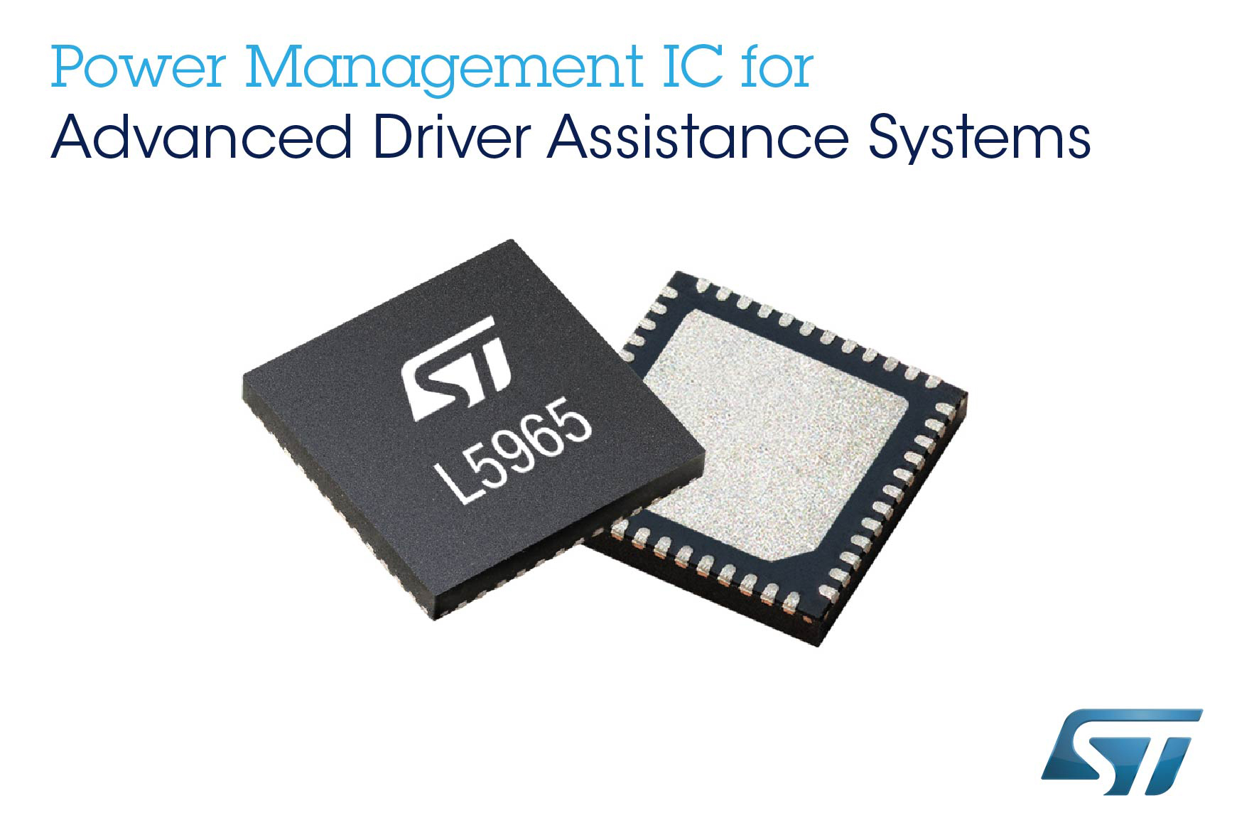 STMicroelectronics' Programmable Power-Management Device Saves Space and Increases Reliability in Advanced Driver-Assistance Systems