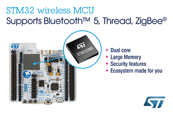 New STM32WB Dual-Core Wireless MCUs from STMicroelectronics Deliver Ultra-Low-Power Real-Time Performance