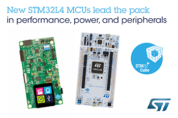 New STM32L4 MCUs from STMicroelectronics Lead Ultra-Low-Power Class in Performance and Efficiency with Top Peripheral Integration