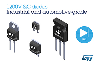 1200V Silicon-Carbide Diodes from STMicroelectronics Deliver Superior Efficiency and State-of-the-Art Robustness