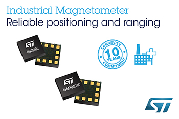 Industrial Magnetometer and eCompass from STMicroelectronics Boost Smart-Meter Tamper Detect and Precision Motion Sensing