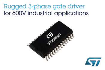 600V Three-Phase Gate Driver with Smart Shutdown from