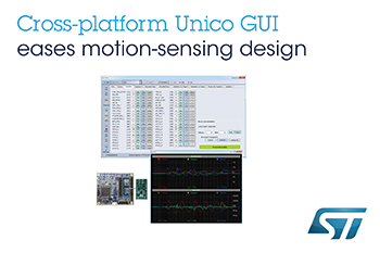 Improved GUI for Advanced Inertial Measurement Units from STMicroelectronics Simplifies Custom Motion-Sensing Design