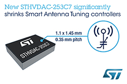Smart-Antenna Controller from STMicroelectronics Cuts Board Space, BoM, and Battery Load for Superior Smartphone Performance