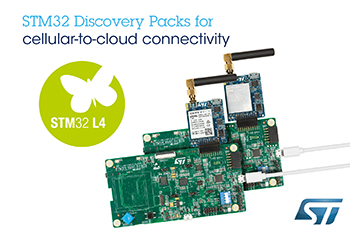 New STM32 Discovery Packs from STMicroelectronics Simplify Cellular-to-Cloud Connections with Free Trials of Partner Services