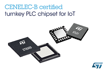 STMicroelectronics Extends Best-In-Class Powerline-Communication Chipset into Non-Utility Applications and Emerging Protocol Standards
