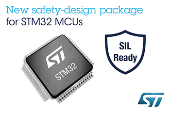 STMicroelectronics Reveals Free Safety-Design Package for Faster Certification of STM32-based IEC 61508 Safety Critical Applications