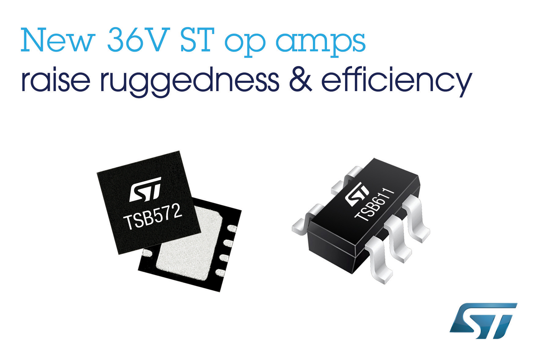New 36v Op Amps From Stmicroelectronics Raise Ruggedness Stability Amp As Comparator Circuit With This The And Efficiency In Automotive Industrial Applications