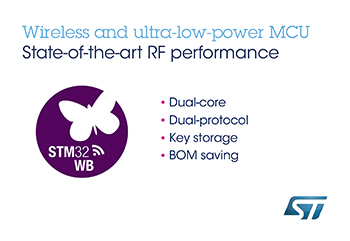 STMicroelectronics Powers Next-Generation IoT Devices with Higher-Performing Multiprotocol Bluetooth<sup>®</sup>   & 802.15.4 System-on-Chip
