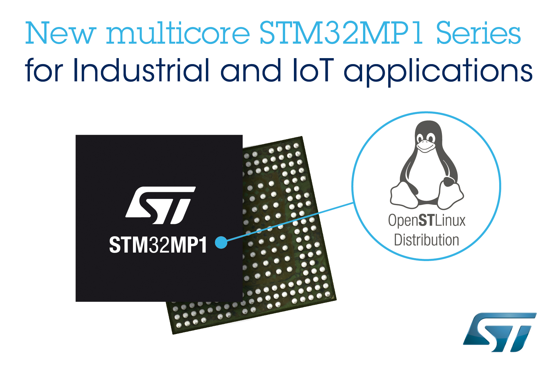 STMicroelectronics Launches STM32MP1 Microprocessor Series