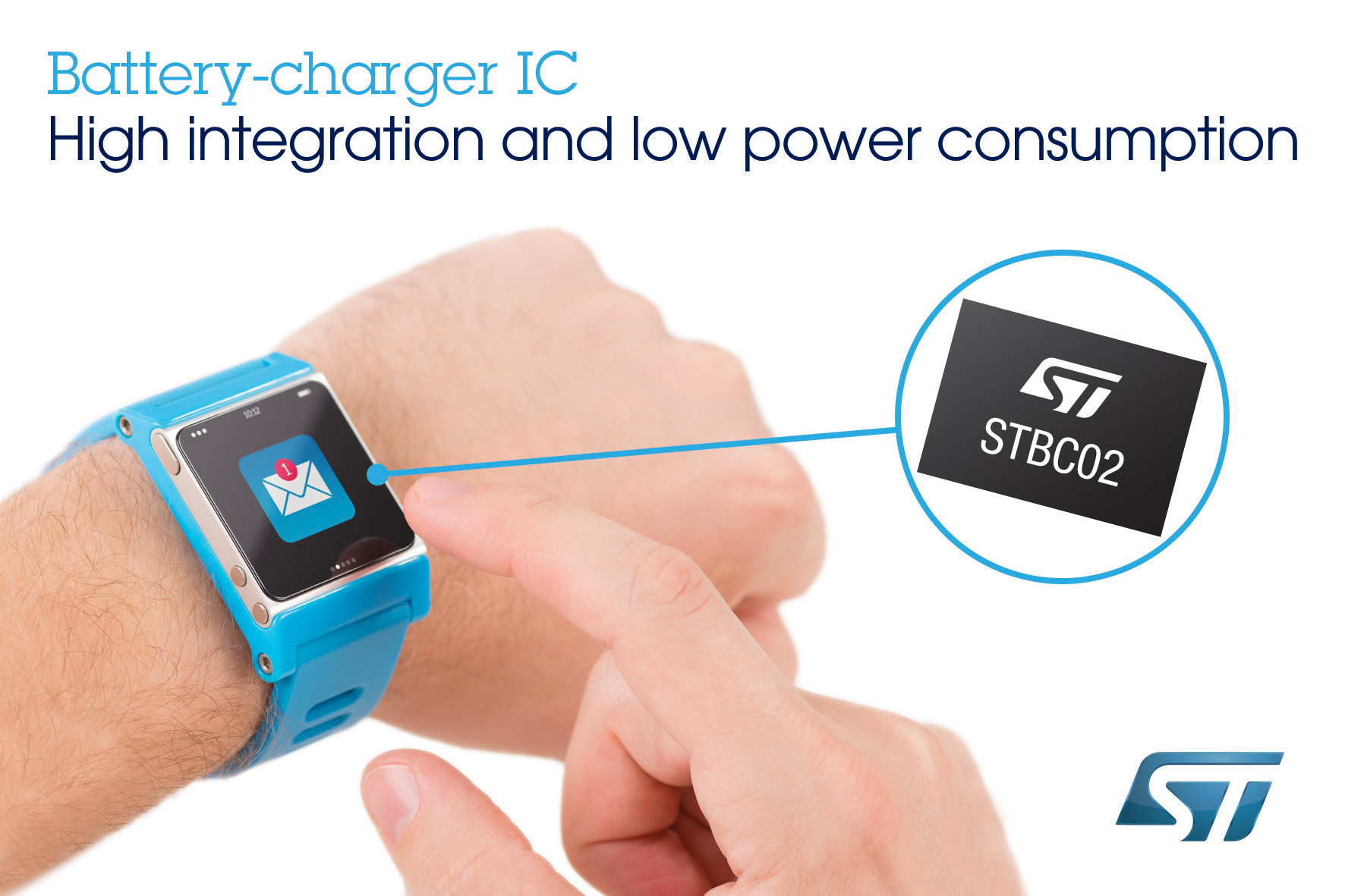 New Battery Charger Chip From Stmicroelectronics Reduces Cost And Energy Management For Portable Schematic Time To Market Wearable Applications