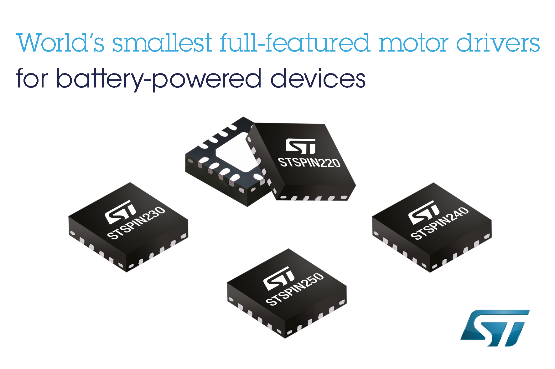 STMicroelectronics Reveals World's Smallest Motor Drivers to