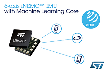 STMicroelectronics Reveals Motion Sensor with Machine Learning for High-Accuracy, Battery-Friendly Activity Tracking