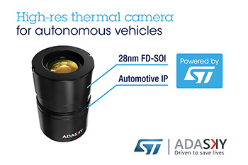 AdaSky and STMicroelectronics Cooperate to Bring Day/Night High-Resolution Vision and Perception to Cars